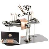 Acupuncturist beeldje met visitekaarthouder