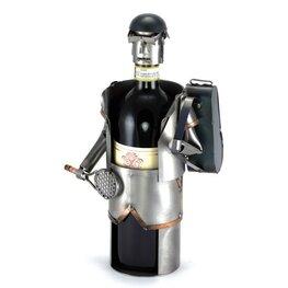 Tennisser wijnfleshouder