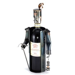 Mijnwerker wijnfleshouder