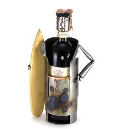 Surfer wijnfleshouder