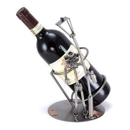 Dronken man wijnfleshouder