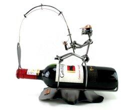 Visser wijnfleshouder