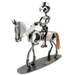 Dressuurruiter met paard in stap