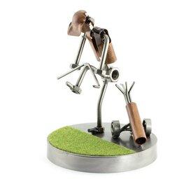 Golfer breekt golfclub op de green