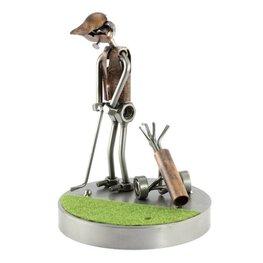 Golfer, putten op de green