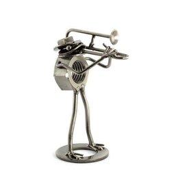 Kikker met trombone