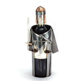Vrouwe Justitia wijnfleshouder