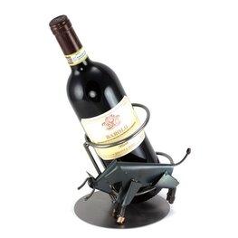 Stier wijnfleshouder