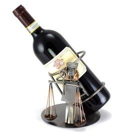 Weegschaal wijnfleshouder