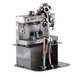 Barista met espressomachine (man)