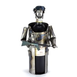 Soldaat wijnfleshouder