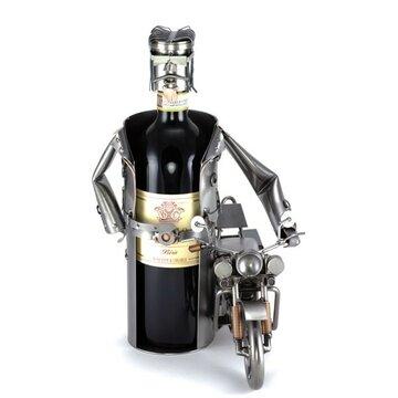 Rocker met Harley wijnfleshouder
