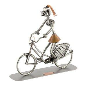 Hollandse fietser vrouw beeldje