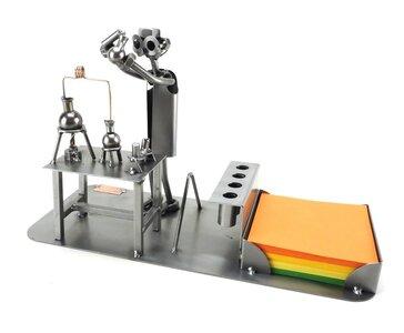 Laborant bureau organizer metalenbeeldjes.nl unieke geschenken